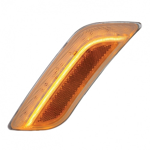 Semi Fender Lights : Led peterbilt fender turn signal light amber