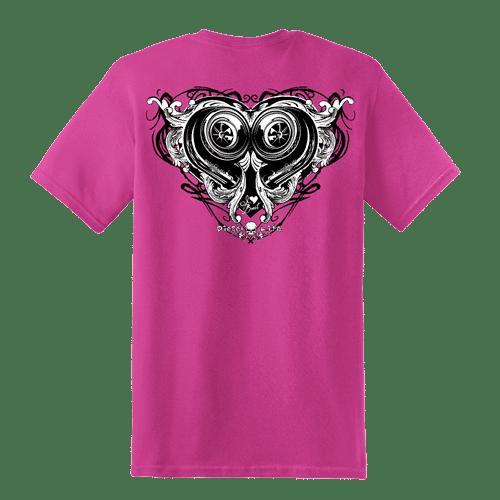 Ladies Short Sleeve Heart Boost T Shirt Diesel Life 75