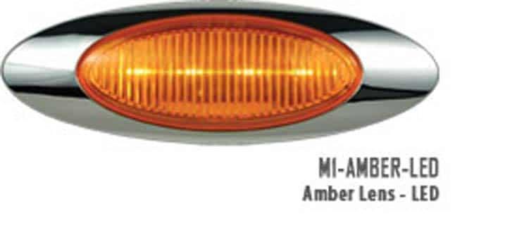 M1 Amber Led Marker Light 187 75 Chrome Shop