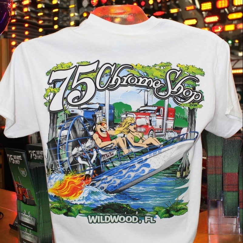 6da2424bb Chrome Shop Airboat T-Shirt » 75 Chrome Shop