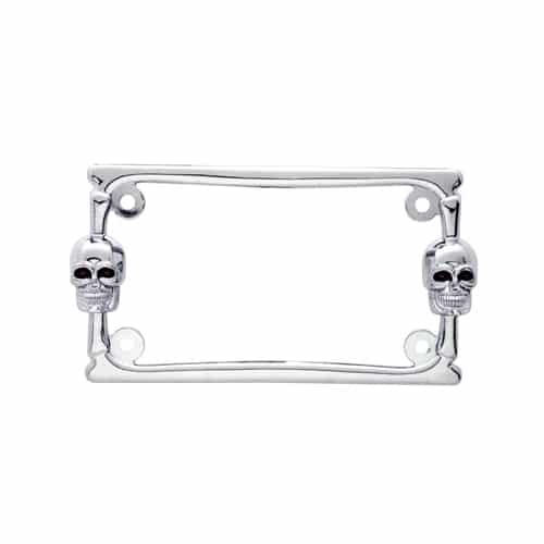 Twin Skull Motorcycle Tag Frame » 75 Chrome Shop