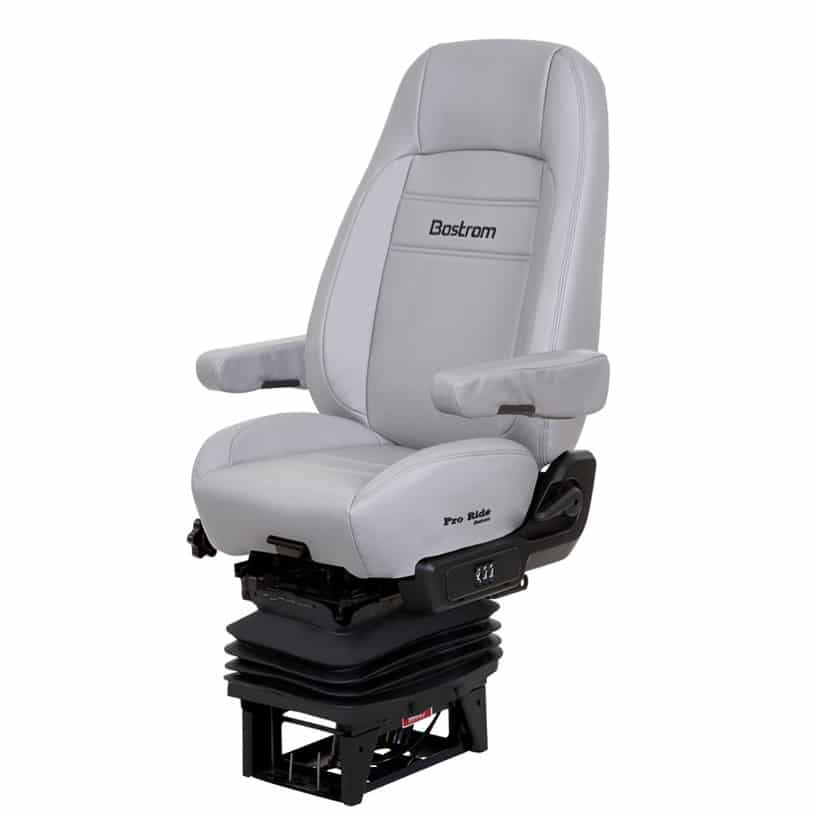 Pro Ride Truck Seat, Hi Pro 915 Air Suspension, Bellows, Hi-Back, Air  Lumbar, Dual Armrest, Grey Ultra-Leather